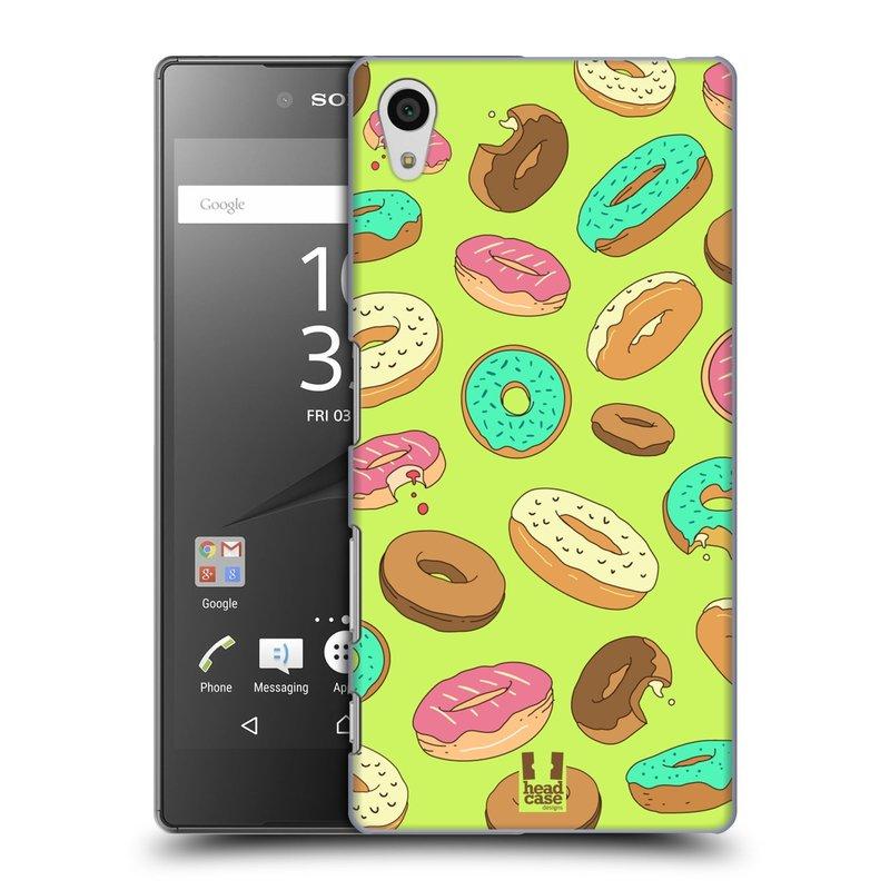 Plastové pouzdro na mobil Sony Xperia Z5 HEAD CASE DONUTKY (Kryt či obal na mobilní telefon Sony Xperia Z5 E6653)