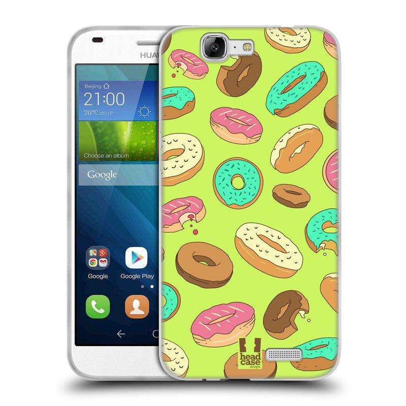 Silikonové pouzdro na mobil Huawei Ascend G7 HEAD CASE DONUTKY (Silikonový kryt či obal na mobilní telefon Huawei Ascend G7)