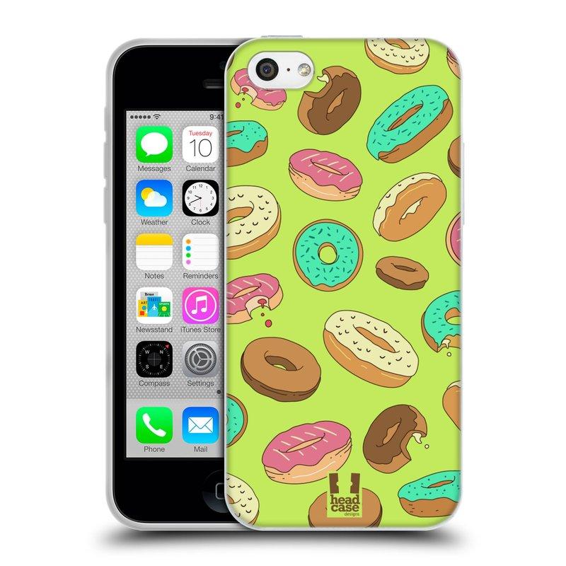 Silikonové pouzdro na mobil Apple iPhone 5C HEAD CASE DONUTKY (Silikonový kryt či obal na mobilní telefon Apple iPhone 5C)