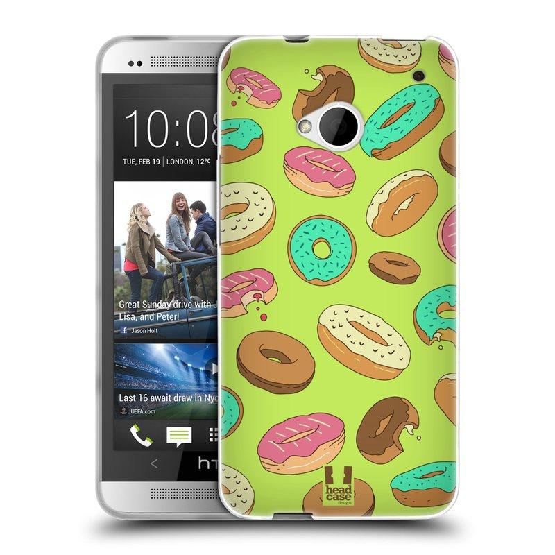 Silikonové pouzdro na mobil HTC ONE M7 HEAD CASE DONUTKY (Silikonový kryt či obal na mobilní telefon HTC ONE M7)