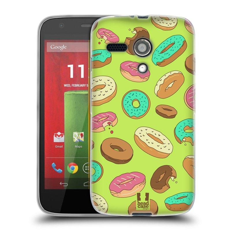 Silikonové pouzdro na mobil Motorola Moto G HEAD CASE DONUTKY (Silikonový kryt či obal na mobilní telefon Motorola Moto G)