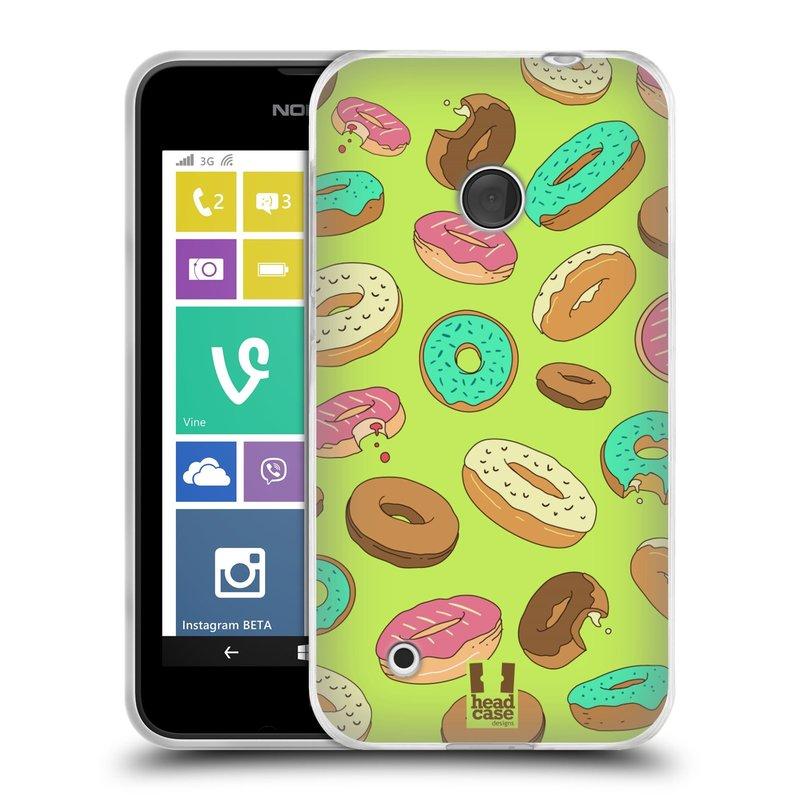 Silikonové pouzdro na mobil Nokia Lumia 530 HEAD CASE DONUTKY (Silikonový kryt či obal na mobilní telefon Nokia Lumia 530)