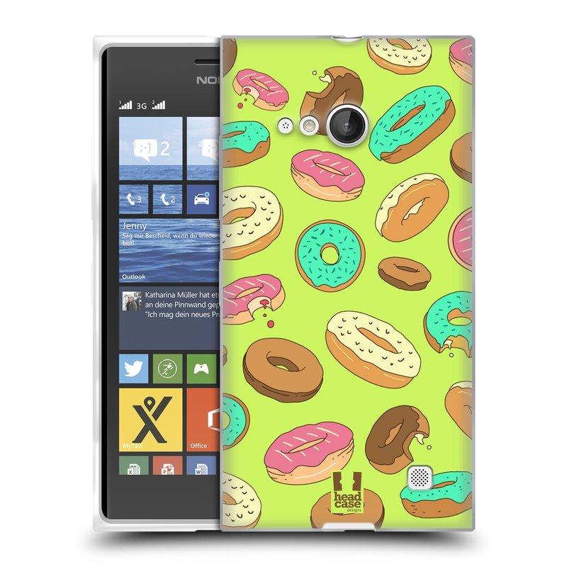 Silikonové pouzdro na mobil Nokia Lumia 735 HEAD CASE DONUTKY (Silikonový kryt či obal na mobilní telefon Nokia Lumia 735)