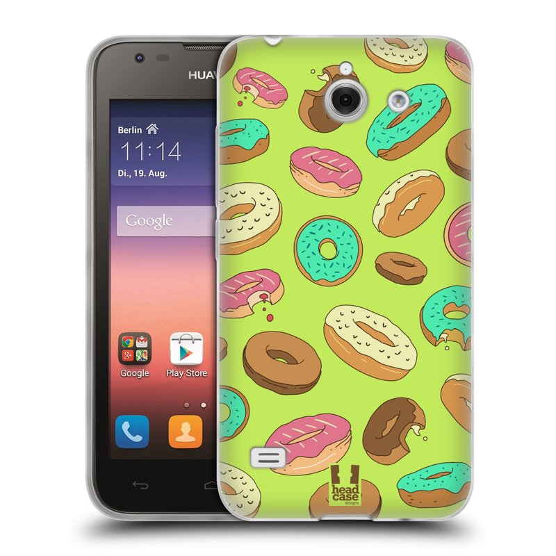 Silikonové pouzdro na mobil Huawei Ascend Y550 HEAD CASE DONUTKY (Silikonový kryt či obal na mobilní telefon Huawei Ascend Y550)