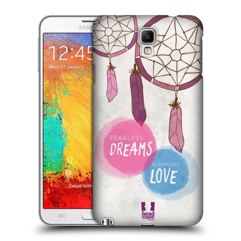 Plastové pouzdro na mobil Samsung Galaxy Note 3 Neo HEAD CASE LAPAČ FEARLESS (Kryt či obal na mobilní telefon Samsung Galaxy Note 3 Neo SM-N7505)