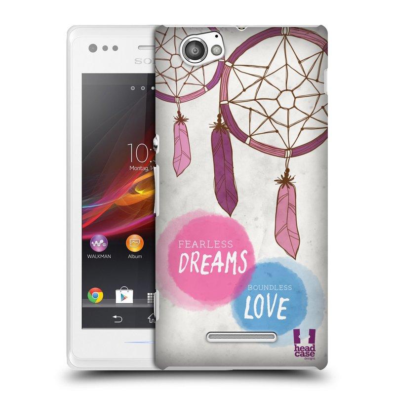 Plastové pouzdro na mobil Sony Xperia M C1905 HEAD CASE LAPAČ FEARLESS (Kryt či obal na mobilní telefon Sony Xperia M a M Dual)