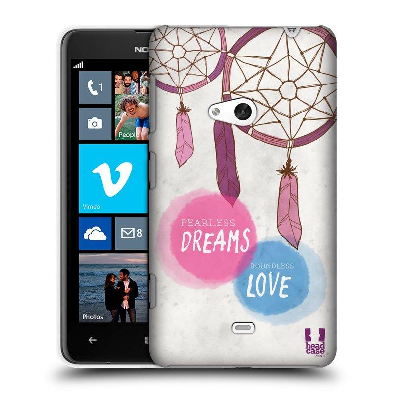 Plastové pouzdro na mobil Nokia Lumia 625 HEAD CASE LAPAČ FEARLESS (Kryt či obal na mobilní telefon Nokia Lumia 625)