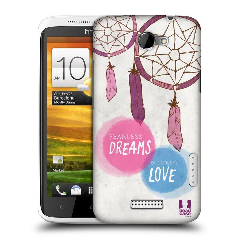 Plastové pouzdro na mobil HTC ONE X HEAD CASE LAPAČ FEARLESS (Kryt či obal na mobilní telefon HTC ONE X)