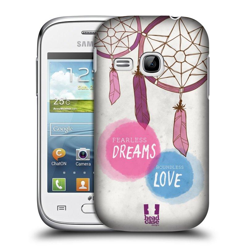 Plastové pouzdro na mobil Samsung Galaxy Young HEAD CASE LAPAČ FEARLESS (Kryt či obal na mobilní telefon Samsung Galaxy Young GT-S6310)