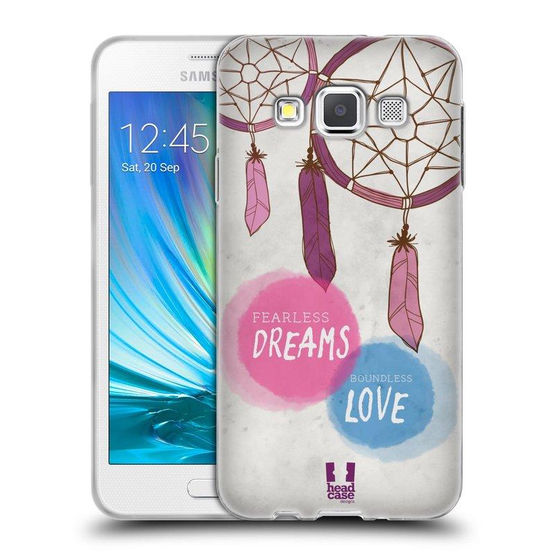 Silikonové pouzdro na mobil Samsung Galaxy A3 HEAD CASE LAPAČ FEARLESS (Silikonový kryt či obal na mobilní telefon Samsung Galaxy A3 SM-A300)