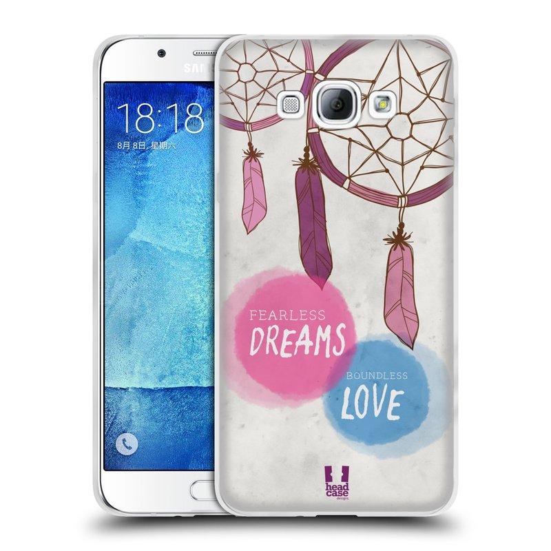 Silikonové pouzdro na mobil Samsung Galaxy A8 HEAD CASE LAPAČ FEARLESS (Silikonový kryt či obal na mobilní telefon Samsung Galaxy A8 SM-A800)