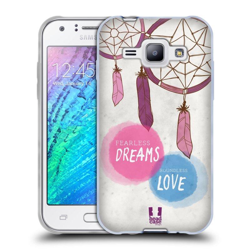 Silikonové pouzdro na mobil Samsung Galaxy J1 HEAD CASE LAPAČ FEARLESS (Silikonový kryt či obal na mobilní telefon Samsung Galaxy J1 a J1 Duos)