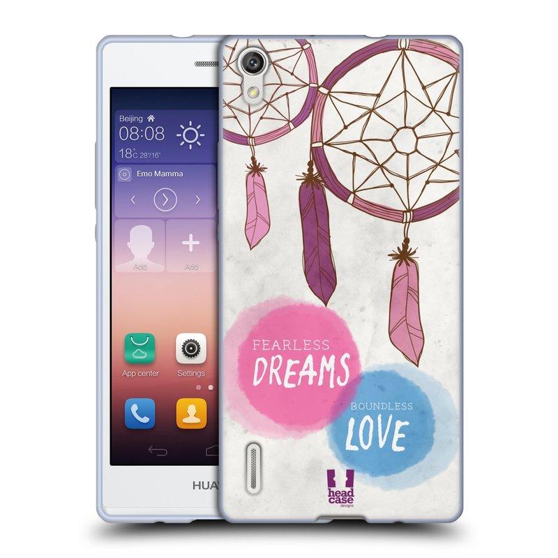 Silikonové pouzdro na mobil Huawei P7 HEAD CASE LAPAČ FEARLESS (Silikonový kryt či obal na mobilní telefon Huawei Ascend P7)