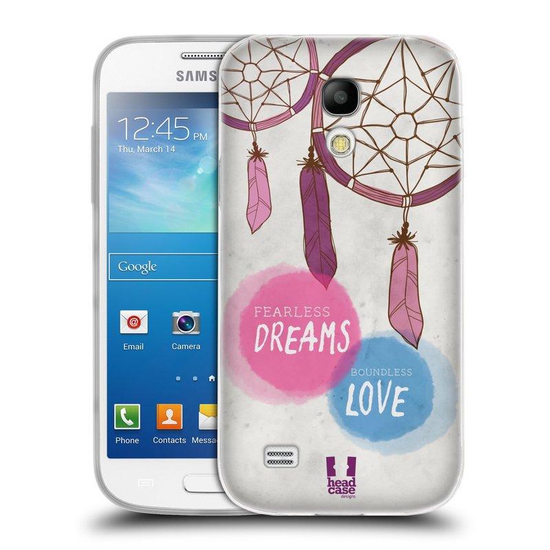 Silikonové pouzdro na mobil Samsung Galaxy S4 Mini HEAD CASE LAPAČ FEARLESS (Silikonový kryt či obal na mobilní telefon Samsung Galaxy S4 Mini GT-i9195 / i9190 (nepasuje na verzi Black Edition))