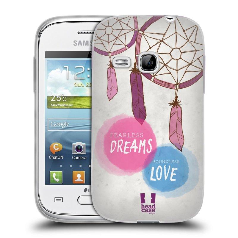 Silikonové pouzdro na mobil Samsung Galaxy Young HEAD CASE LAPAČ FEARLESS (Silikonový kryt či obal na mobilní telefon Samsung Galaxy Young GT-S6310)