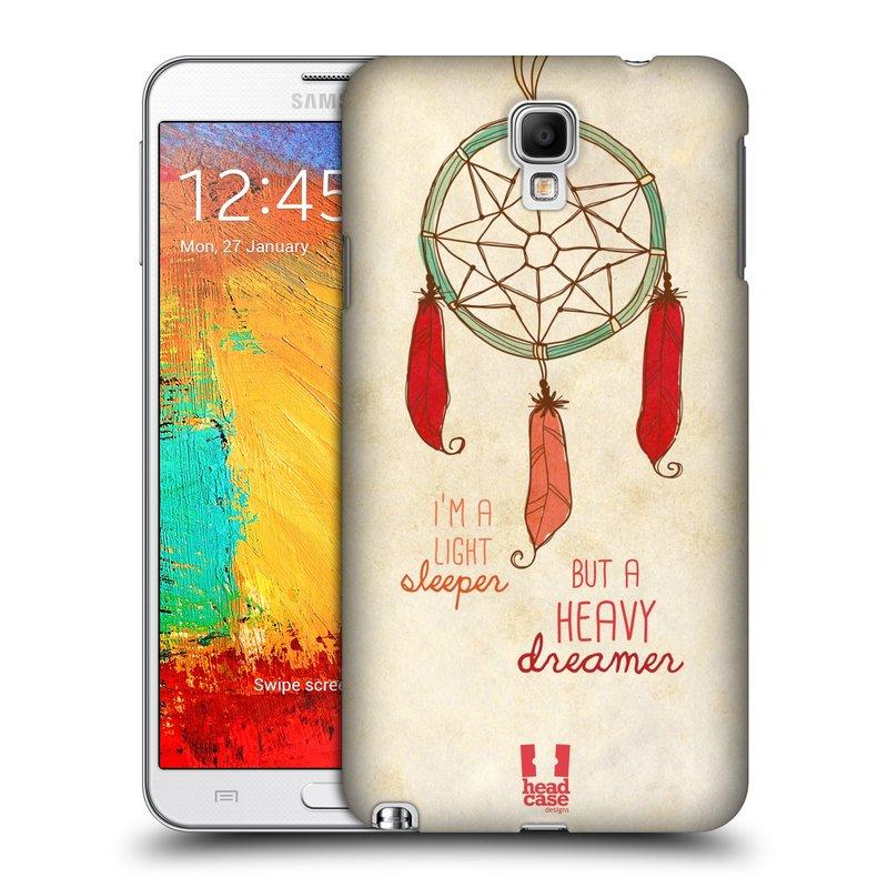 Plastové pouzdro na mobil Samsung Galaxy Note 3 Neo HEAD CASE LAPAČ HEAVY DREAMER (Kryt či obal na mobilní telefon Samsung Galaxy Note 3 Neo SM-N7505)