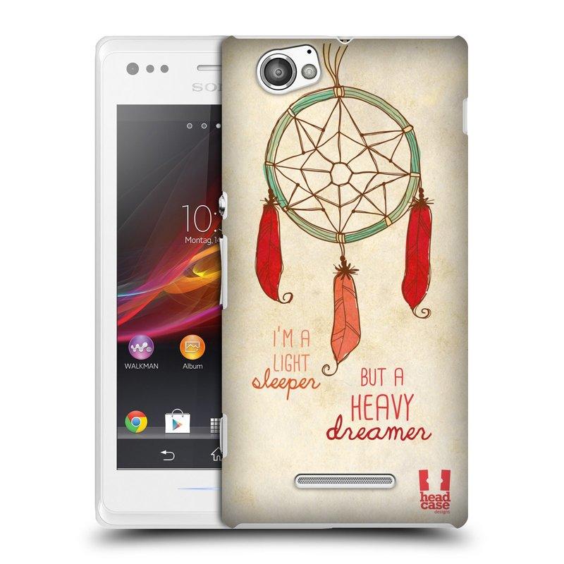 Plastové pouzdro na mobil Sony Xperia M C1905 HEAD CASE LAPAČ HEAVY DREAMER (Kryt či obal na mobilní telefon Sony Xperia M a M Dual)