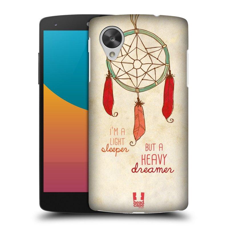 Plastové pouzdro na mobil LG Nexus 5 HEAD CASE LAPAČ HEAVY DREAMER (Kryt či obal na mobilní telefon LG Google Nexus 5 D821)