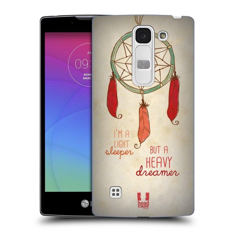 Plastové pouzdro na mobil LG Spirit LTE HEAD CASE LAPAČ HEAVY DREAMER (Kryt či obal na mobilní telefon LG Spirit H420 a LG Spirit LTE H440N)