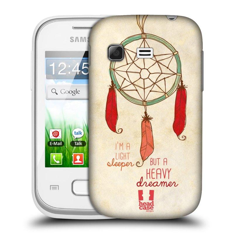 Plastové pouzdro na mobil Samsung Galaxy Pocket HEAD CASE LAPAČ HEAVY DREAMER (Kryt či obal na mobilní telefon Samsung Galaxy Pocket GT-S5300)