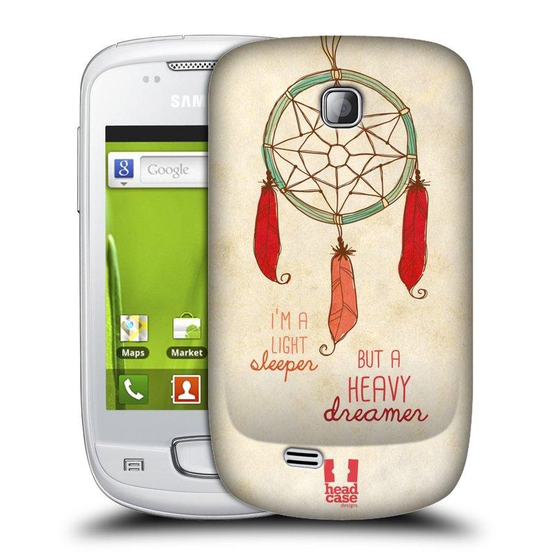 Plastové pouzdro na mobil Samsung Galaxy Mini HEAD CASE LAPAČ HEAVY DREAMER (Kryt či obal na mobilní telefon Samsung Galaxy Mini GT-S5570 / GT-S5570i)
