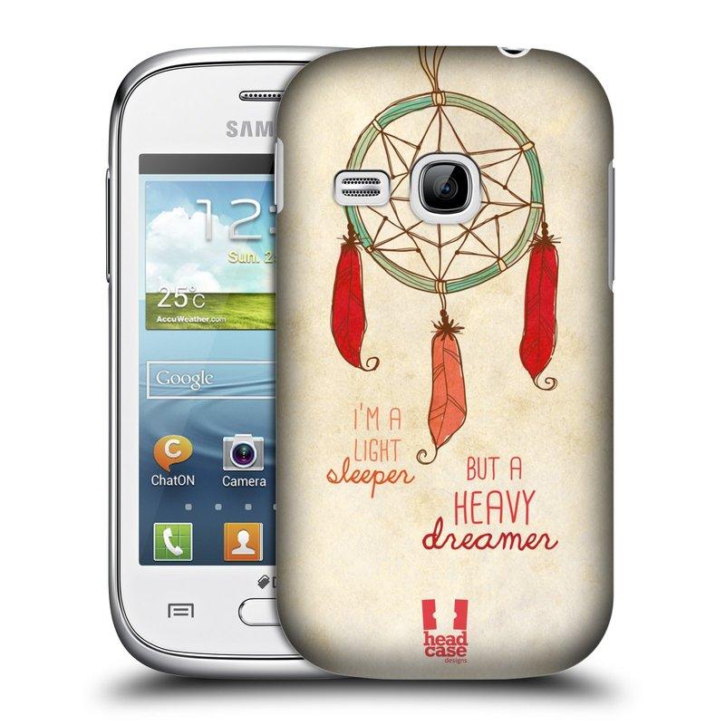 Plastové pouzdro na mobil Samsung Galaxy Young HEAD CASE LAPAČ HEAVY DREAMER (Kryt či obal na mobilní telefon Samsung Galaxy Young GT-S6310)