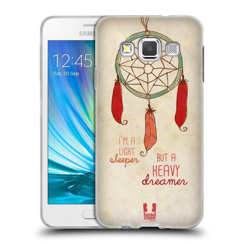 Silikonové pouzdro na mobil Samsung Galaxy A3 HEAD CASE LAPAČ HEAVY DREAMER (Silikonový kryt či obal na mobilní telefon Samsung Galaxy A3 SM-A300)