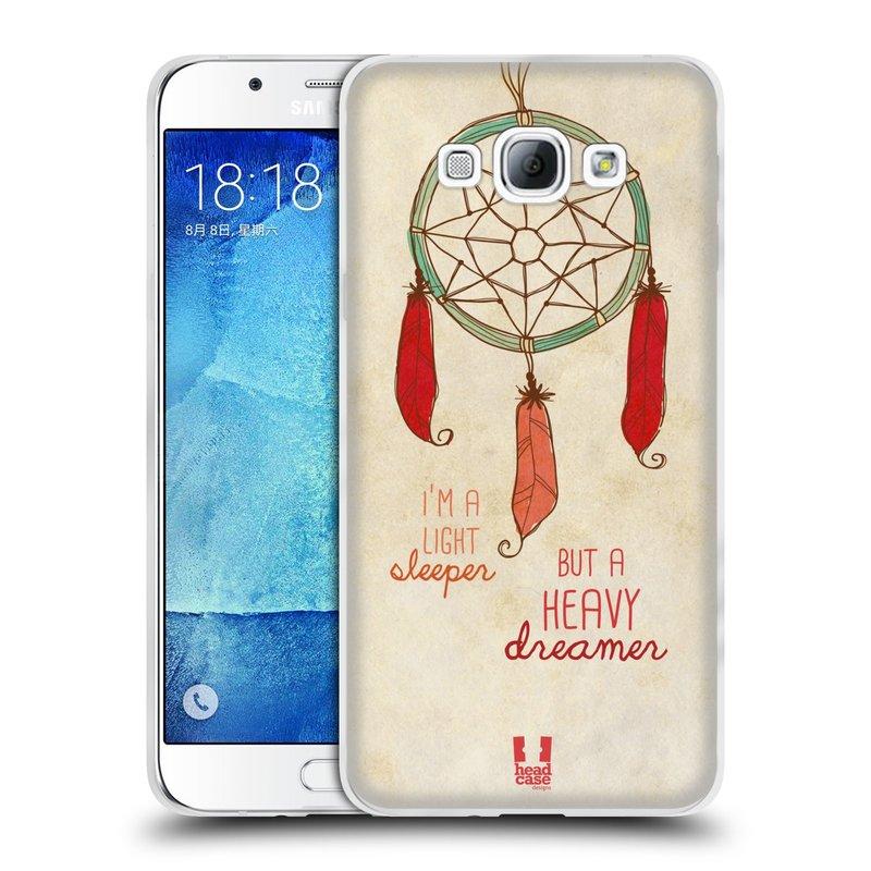 Silikonové pouzdro na mobil Samsung Galaxy A8 HEAD CASE LAPAČ HEAVY DREAMER (Silikonový kryt či obal na mobilní telefon Samsung Galaxy A8 SM-A800)
