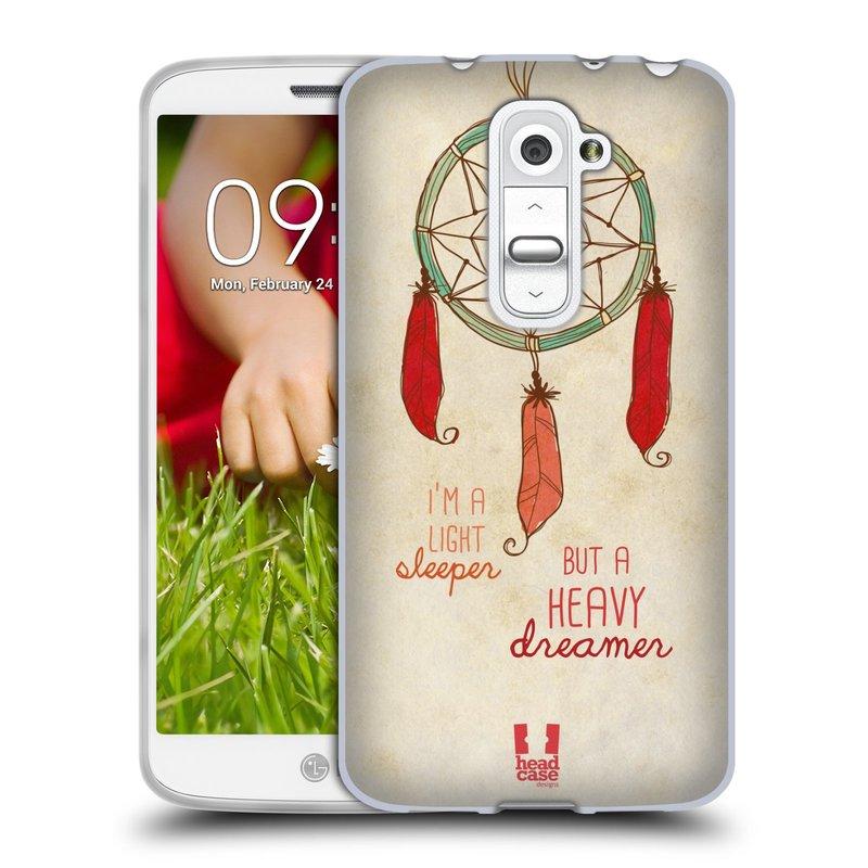 Silikonové pouzdro na mobil LG G2 Mini HEAD CASE LAPAČ HEAVY DREAMER (Silikonový kryt či obal na mobilní telefon LG G2 Mini D620)