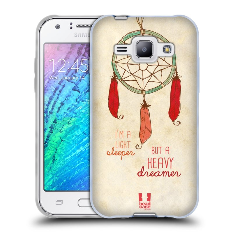 Silikonové pouzdro na mobil Samsung Galaxy J1 HEAD CASE LAPAČ HEAVY DREAMER (Silikonový kryt či obal na mobilní telefon Samsung Galaxy J1 a J1 Duos)