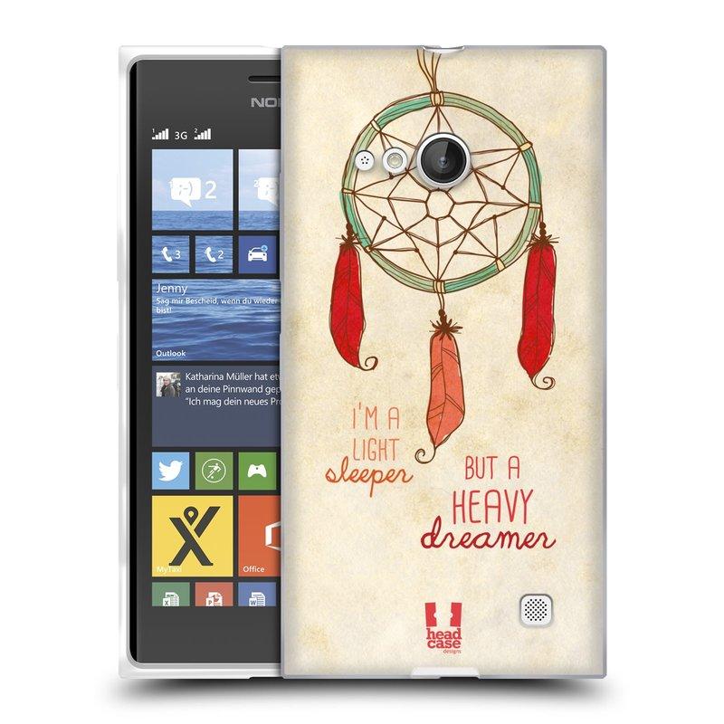 Silikonové pouzdro na mobil Nokia Lumia 730 Dual SIM HEAD CASE LAPAČ HEAVY DREAMER (Silikonový kryt či obal na mobilní telefon Nokia Lumia 730 Dual SIM)