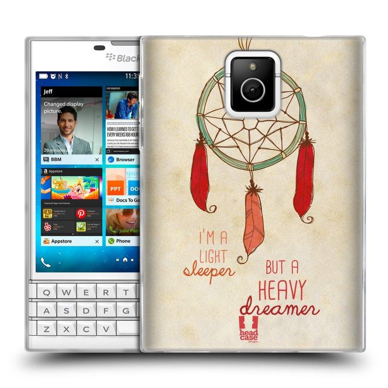 Silikonové pouzdro na mobil Blackberry PASSPORT HEAD CASE LAPAČ HEAVY DREAMER (Silikonový kryt či obal na mobilní telefon Blackberry PASSPORT)