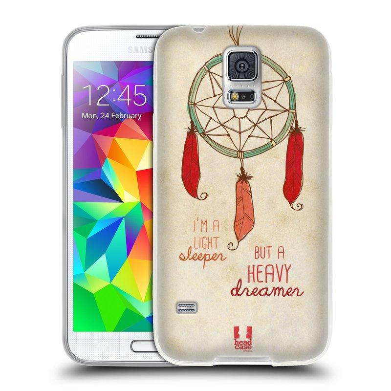 Silikonové pouzdro na mobil Samsung Galaxy S5 HEAD CASE LAPAČ HEAVY DREAMER (Silikonový kryt či obal na mobilní telefon Samsung Galaxy S5 SM-G900F)