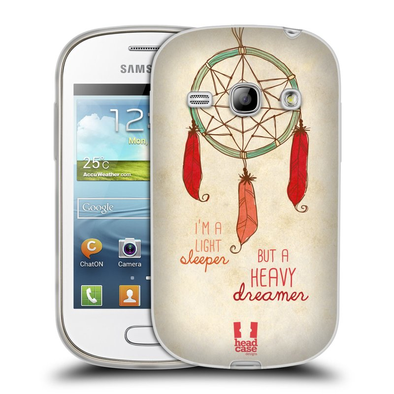 Silikonové pouzdro na mobil Samsung Galaxy Fame HEAD CASE LAPAČ HEAVY DREAMER (Silikonový kryt či obal na mobilní telefon Samsung Galaxy Fame GT-S6810)