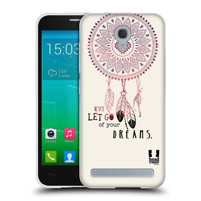 Silikonové pouzdro na mobil Alcatel One Touch Idol 2 Mini S 6036Y HEAD CASE LAPAČ NEVER DREAMS (Silikonový kryt či obal na mobilní telefon Alcatel Idol 2 Mini S OT-6036Y)