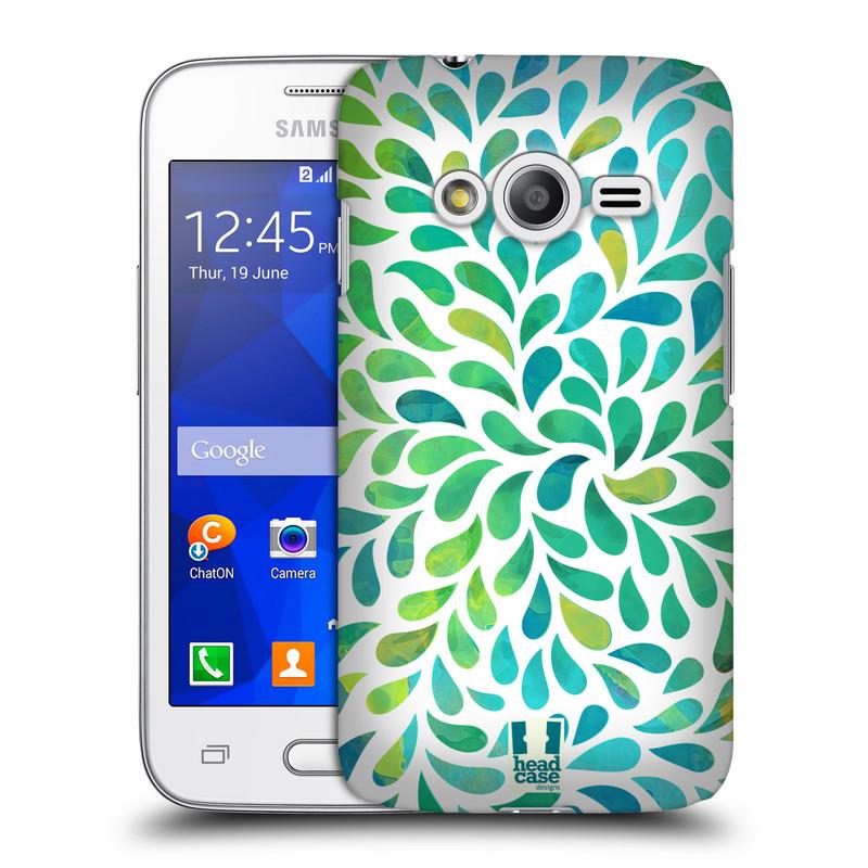 Plastové pouzdro na mobil Samsung Galaxy Trend 2 Lite HEAD CASE Droplet Wave Kapičky (Kryt či obal na mobilní telefon Samsung Galaxy Trend 2 Lite SM-G318)