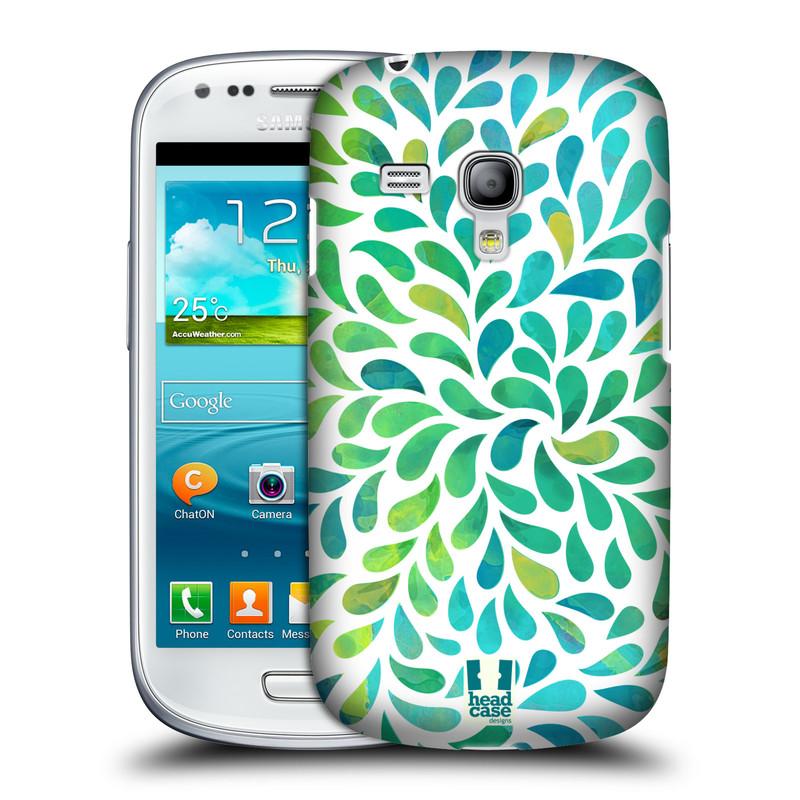 Plastové pouzdro na mobil Samsung Galaxy S III Mini HEAD CASE Droplet Wave Kapičky (Kryt či obal na mobilní telefon Samsung Galaxy S III Mini GT-i8190)