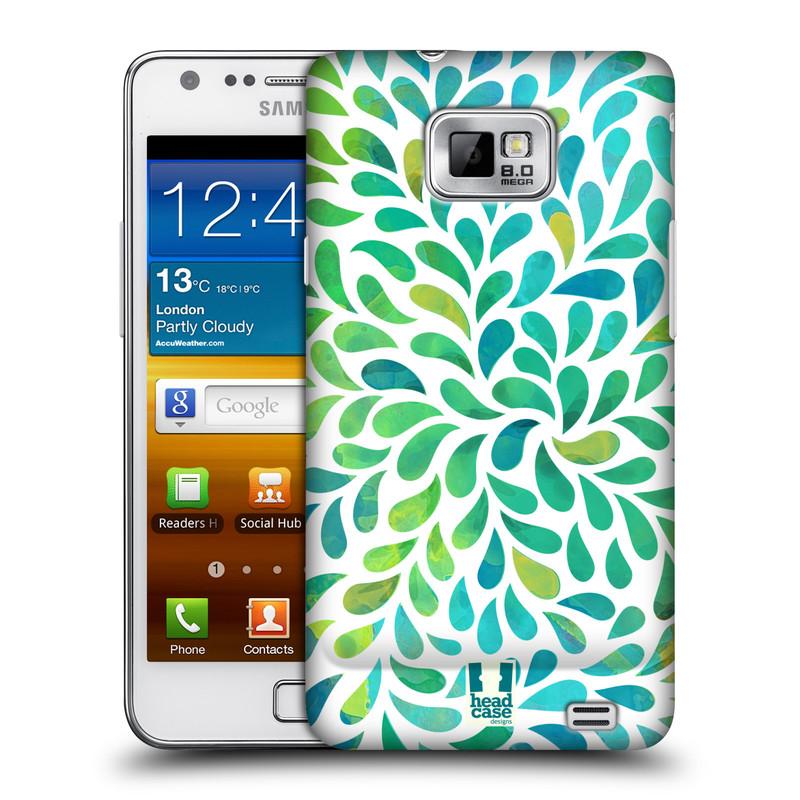 Plastové pouzdro na mobil Samsung Galaxy S II HEAD CASE Droplet Wave Kapičky (Kryt či obal na mobilní telefon Samsung Galaxy S II GT-i9100)