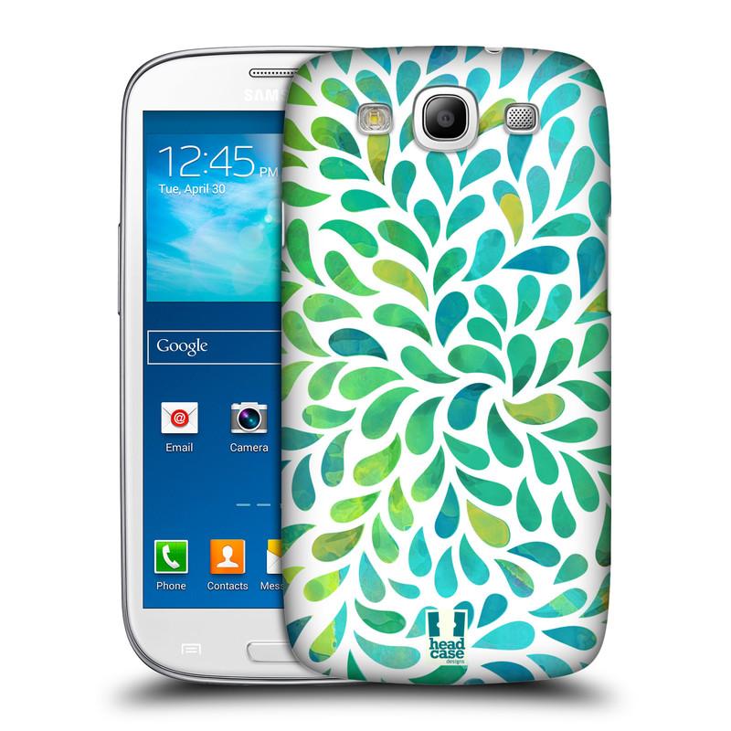 Plastové pouzdro na mobil Samsung Galaxy S III HEAD CASE Droplet Wave Kapičky (Kryt či obal na mobilní telefon Samsung Galaxy S III GT-i9300)