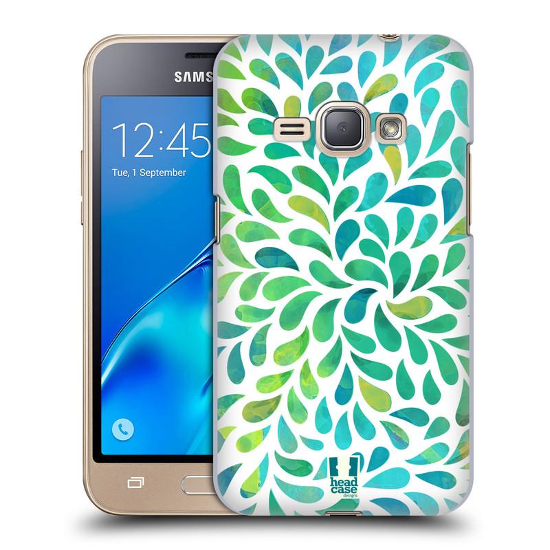 Plastové pouzdro na mobil Samsung Galaxy J1 (2016) HEAD CASE Droplet Wave Kapičky (Plastový kryt či obal na mobilní telefon Samsung Galaxy J1 2016 SM-J120F)