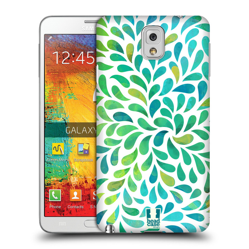 Plastové pouzdro na mobil Samsung Galaxy Note 3 HEAD CASE Droplet Wave Kapičky (Kryt či obal na mobilní telefon Samsung Galaxy Note 3 SM-N9005)