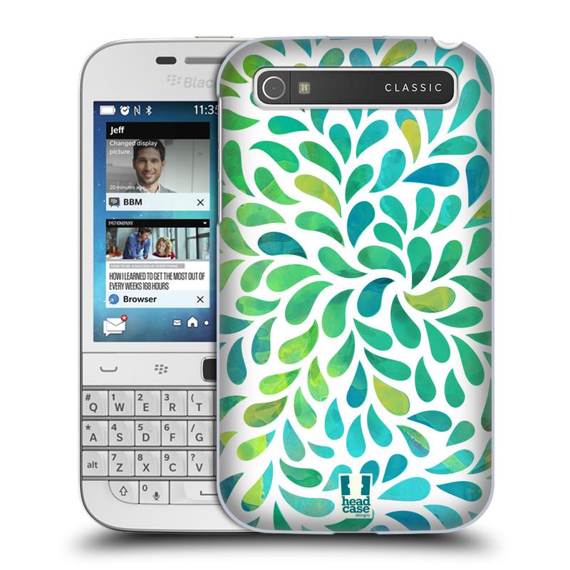 Plastové pouzdro na mobil Blackberry Classic HEAD CASE Droplet Wave Kapičky (Kryt či obal na mobilní telefon Blackberry Classic)