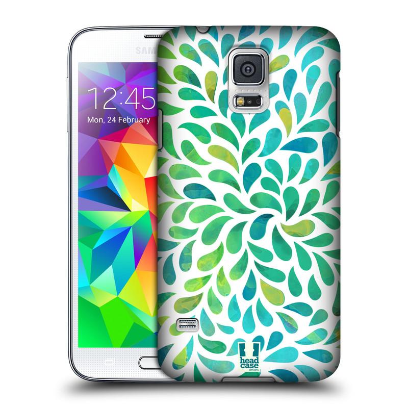 Plastové pouzdro na mobil Samsung Galaxy S5 HEAD CASE Droplet Wave Kapičky (Kryt či obal na mobilní telefon Samsung Galaxy S5 SM-G900F)