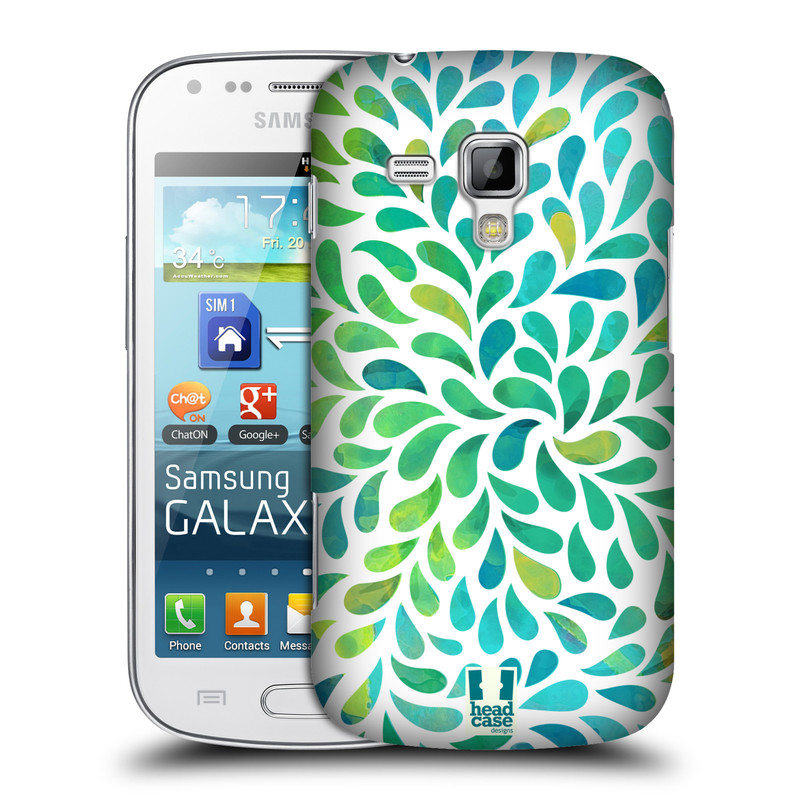 Plastové pouzdro na mobil Samsung Galaxy S Duos 2 HEAD CASE Droplet Wave Kapičky (Kryt či obal na mobilní telefon Samsung Galaxy S Duos 2 GT-S7582)