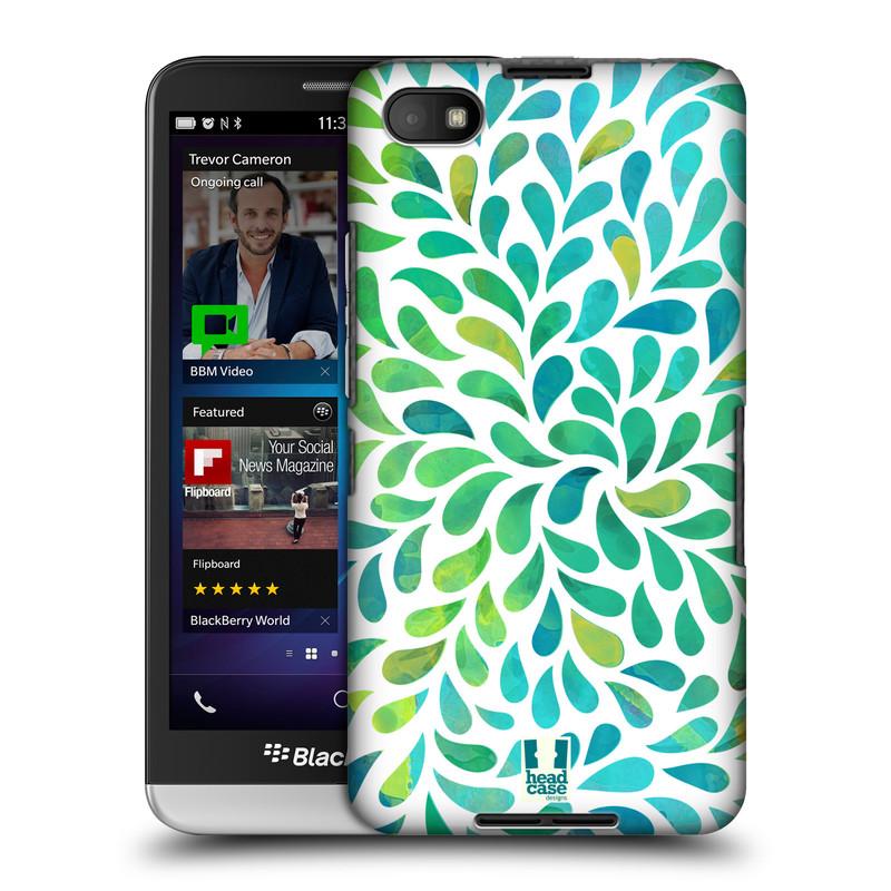 Plastové pouzdro na mobil Blackberry Z30 HEAD CASE Droplet Wave Kapičky (Kryt či obal na mobilní telefon Blackberry Z30)