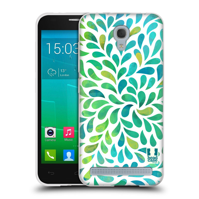 Silikonové pouzdro na mobil Alcatel One Touch Idol 2 Mini S 6036Y HEAD CASE Droplet Wave Kapičky (Silikonový kryt či obal na mobilní telefon Alcatel Idol 2 Mini S OT-6036Y)