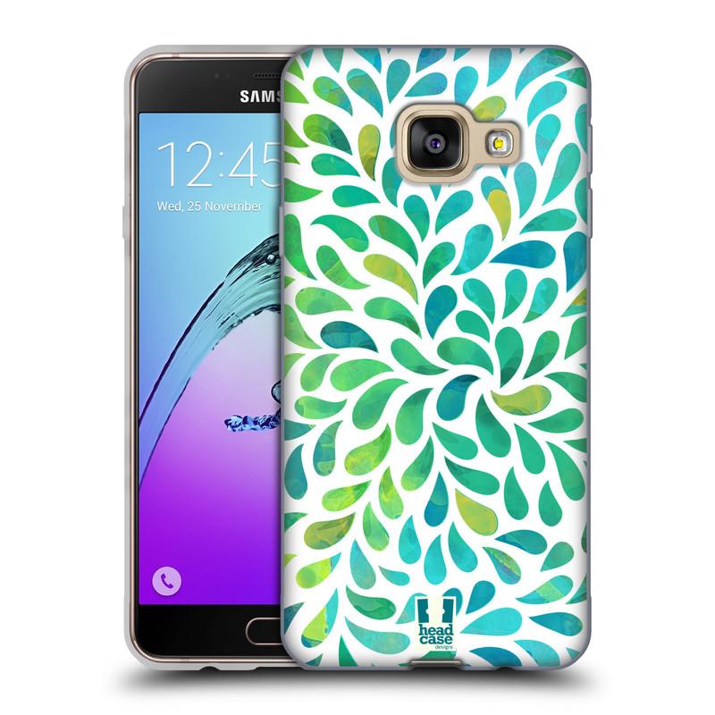 Silikonové pouzdro na mobil Samsung Galaxy A3 (2016) HEAD CASE Droplet Wave Kapičky (Silikonový kryt či obal na mobilní telefon Samsung Galaxy A3 (2016) SM-A310F)