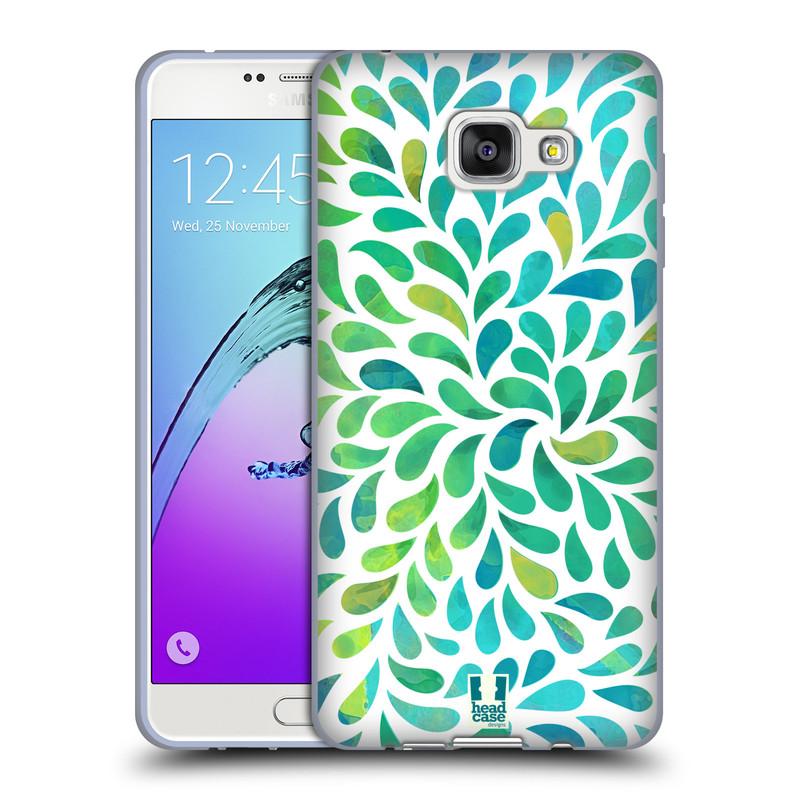 Silikonové pouzdro na mobil Samsung Galaxy A7 (2016) HEAD CASE Droplet Wave Kapičky (Silikonový kryt či obal na mobilní telefon Samsung Galaxy A7 (2016) SM-A710F)