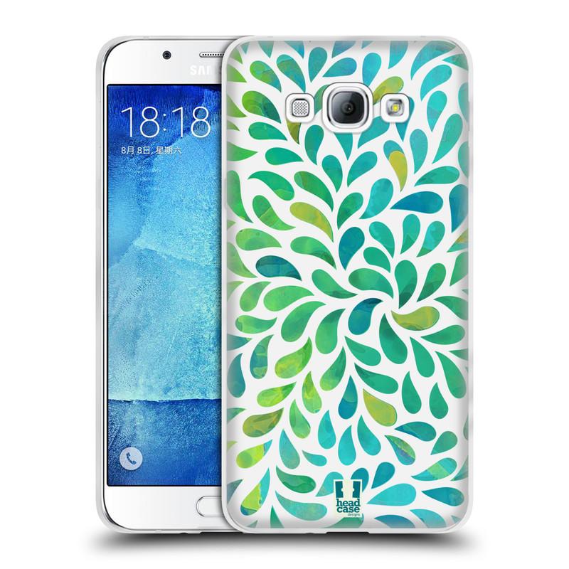 Silikonové pouzdro na mobil Samsung Galaxy A8 HEAD CASE Droplet Wave Kapičky (Silikonový kryt či obal na mobilní telefon Samsung Galaxy A8 SM-A800)