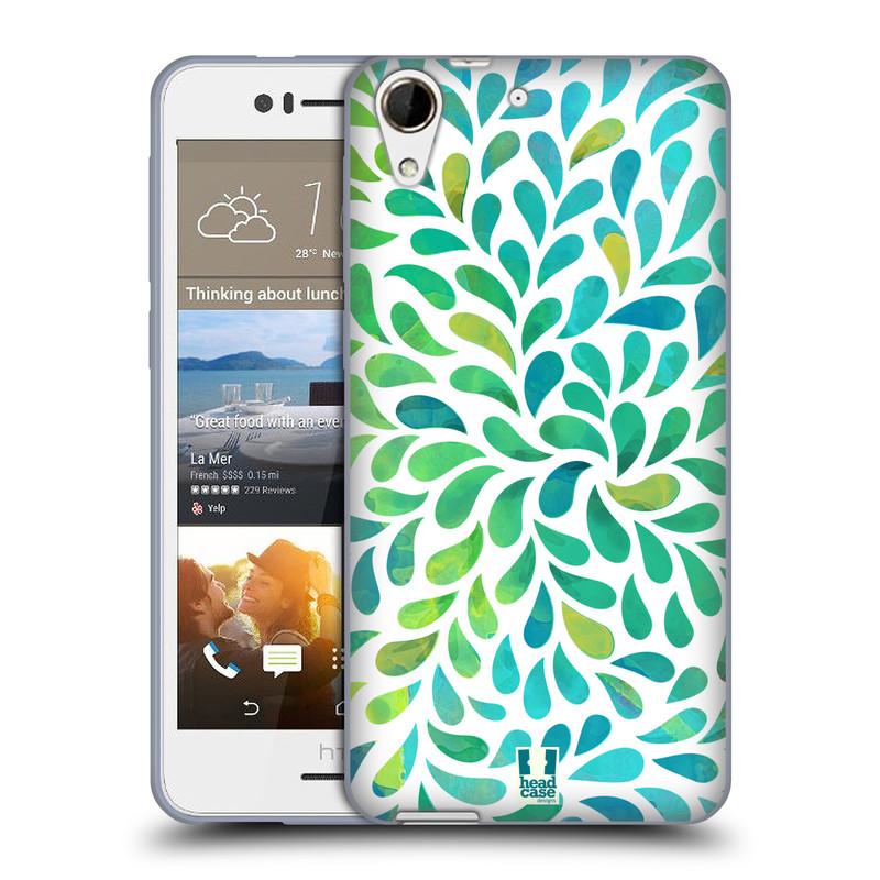 Silikonové pouzdro na mobil HTC Desire 728G Dual SIM HEAD CASE Droplet Wave Kapičky (Silikonový kryt či obal na mobilní telefon HTC Desire 728 G Dual SIM)